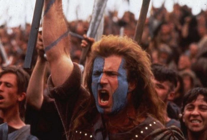 Кадр из к/ф «Храброе сердце» (1995). | Фото: photo.allindonews.com.