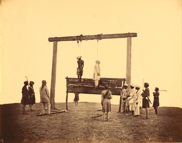После мятежа многих индийцев повесили по одному подозрению, что они, может быть, помогали повстанцам.